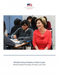 Image of the cover of the second edition of the Middle School Matters Field Guide