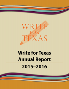 Write for Texas annual report image