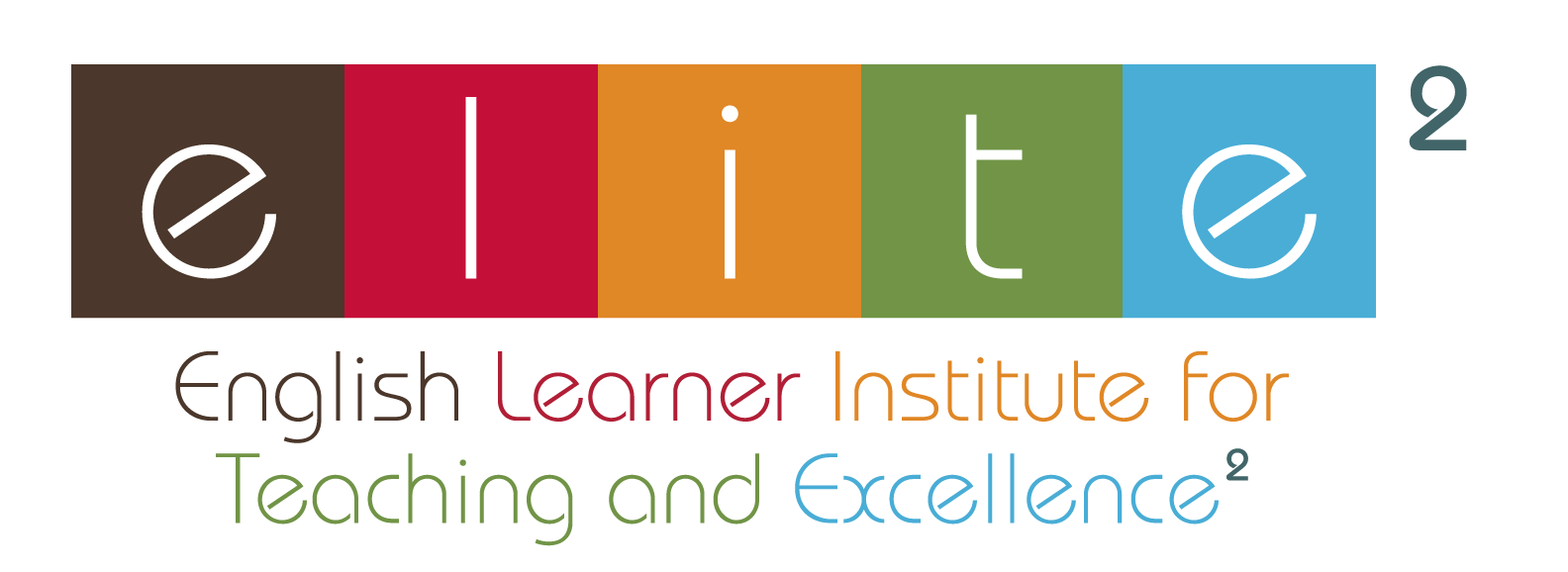 Logo for English Learner Institute for Teaching and Excellence: Project ELITE